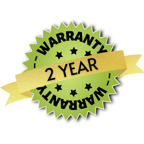 2 year Warranty with Premier Shades