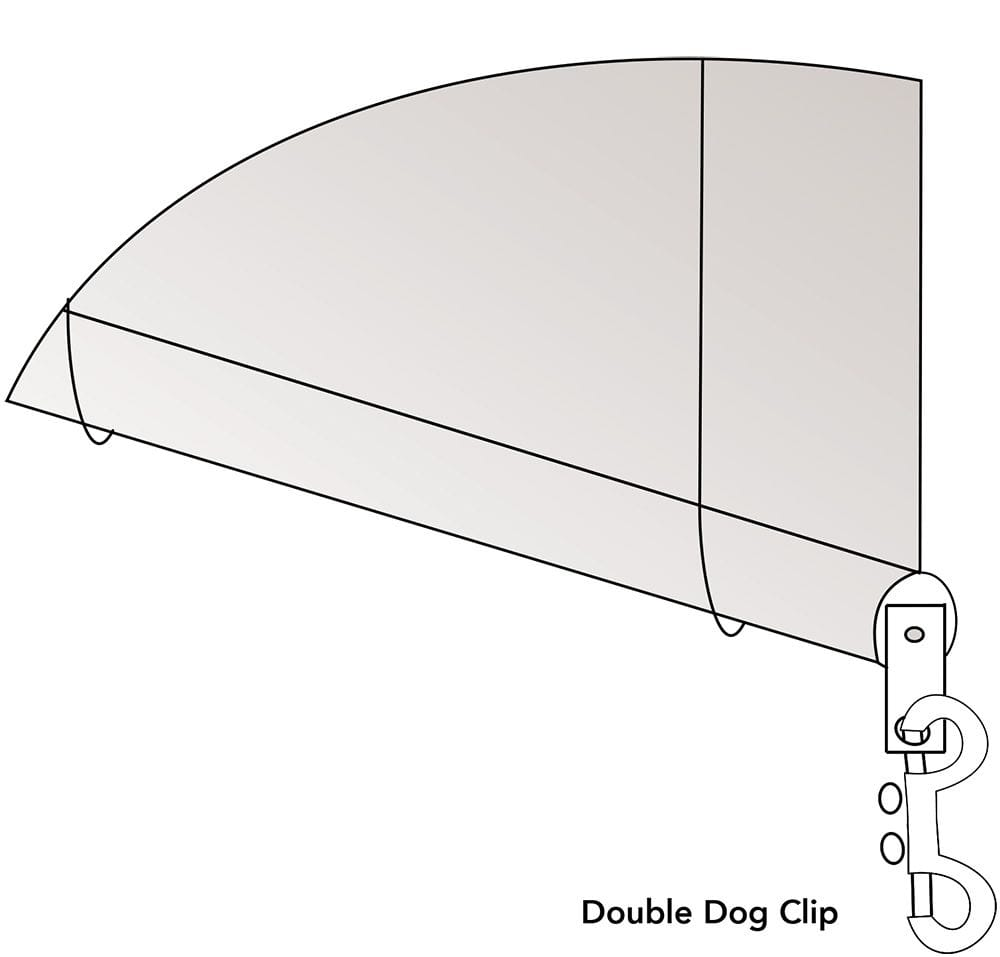 Straight Drop Awning - Double Dog Clip Diagram