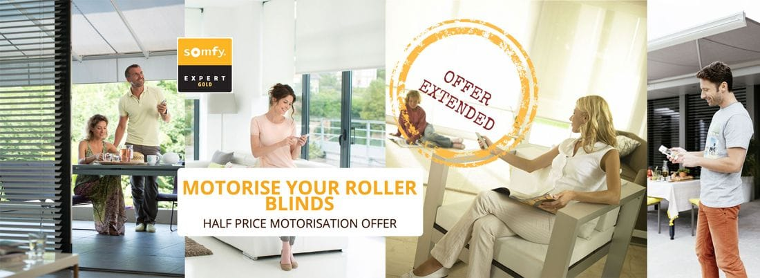 Motorise those Roller Blinds in hard to reach places or for people with mobility issues. Solar powered motors available.