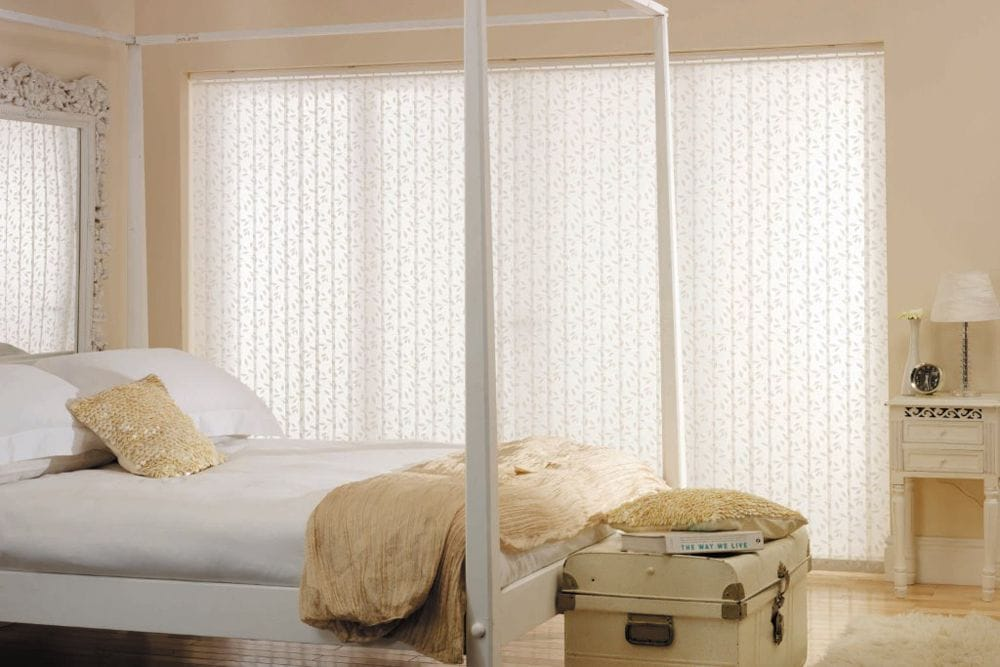 Light Filtering Vertical Blinds from Premier Shades Central Coast