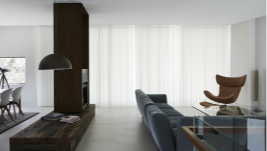 Veri Shades Blinds feel like curtains with the versatility of blinds, range of fabrics, colours and track fittings