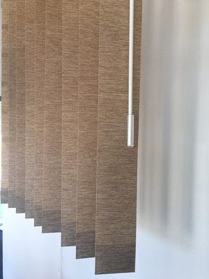 Vertical Blinds With Wand Control. Ideal for Tennants. Low Maintenance