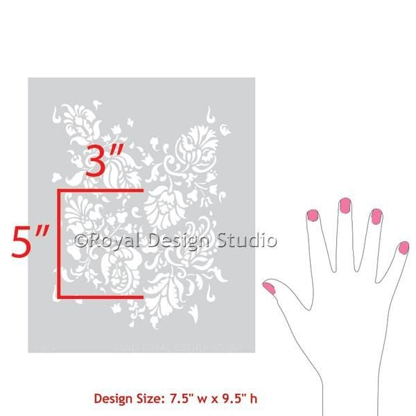 Thumbnail Allover Brocade Furniture Stencil