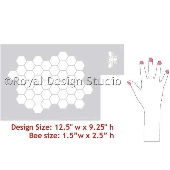 Thumbnail Beehive Allover Furniture Stencil