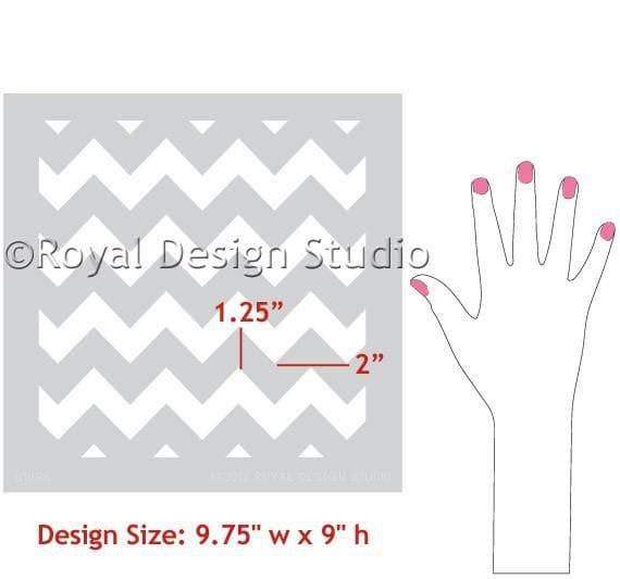 Thumbnail Chevron Furniture Stencil