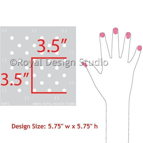 Thumbnail Polka Party Furniture Stencil