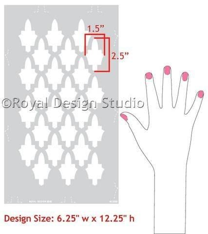 Thumbnail Moroccan Arches Furniture Stencil