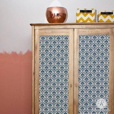 Art Deco Fanfare Raven + Lily Furniture Stencil