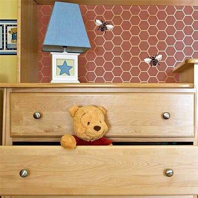 Beehive Allover Furniture Stencil