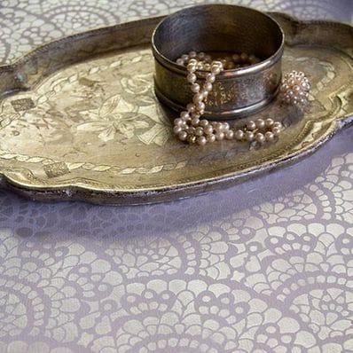 Spanish Lace Scallop Furniture Stencil