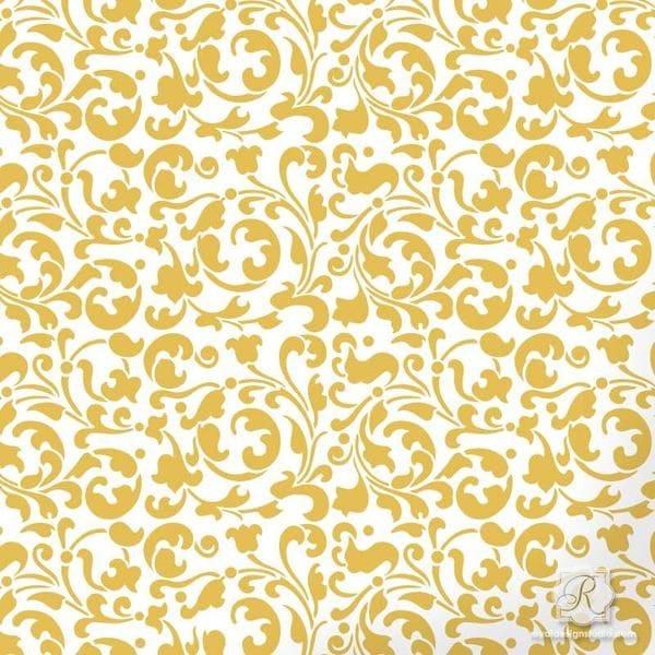 Thumbnail Sultan Swirl Furniture Stencil - XS Mini Craft