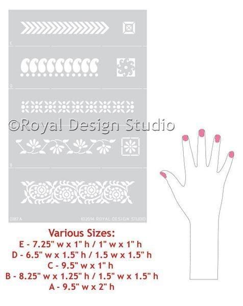 Thumbnail Sari Border Furniture Stencil Set