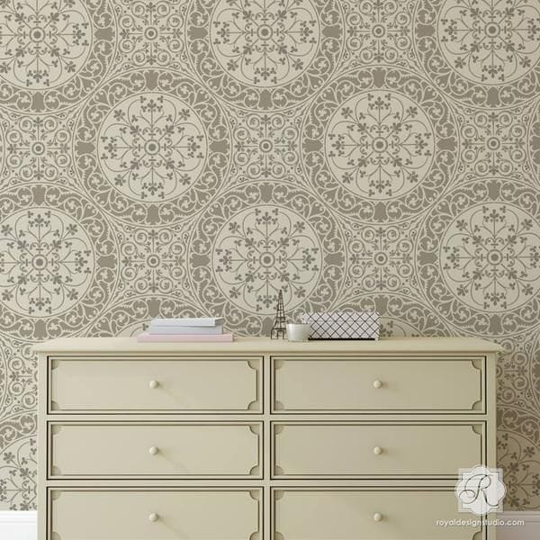 Thumbnail Aragon Damask Wall Stencil