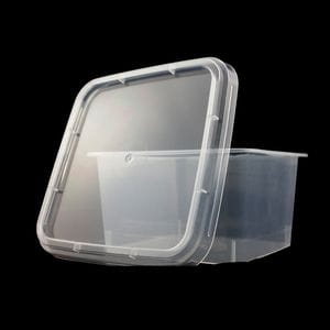 250ml Square Container 90mm + Lid