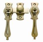 French Door Fastener Polished Brass