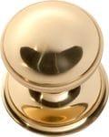 Centre Door Knob Polished Brass