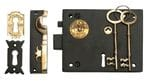 Box Lock - Right Hand Antique Finish