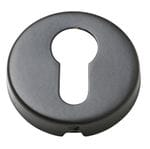 Euro Cylinder Escutcheon Matt Black