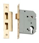 Euro Mortice Lock Polished Brass 57mm