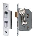 5 Lever Mortice Lock Chrome 46mm