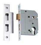 Euro Mortice Lock Chrome 57mm