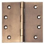 Hinge - Fixed Pin Antique Brass 100mm x 100mm