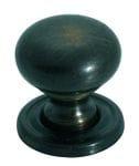 Cupboard Knob Antique Brass 19mm