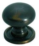 Cupboard Knob Antique Brass 25mm