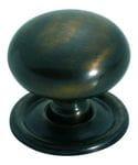 Cupboard Knob Antique Brass 32mm