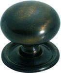 Cupboard Knob Antique Brass 38mm