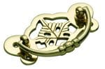 Cabinet Handle Large Polished Brass