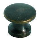 Cupboard Knob Antique Brass 13mm