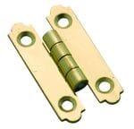 'H' Hinge Polished Brass