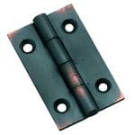 Hinge - Fixed Pin Antique Copper 38mm x 22mm