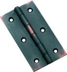 Hinge - Fixed Pin Antique Copper 76mm x 41mm