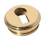 Escutcheon Round Insert Polished Brass