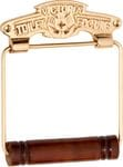 Victoria Toilet Roll Holder Polished Brass