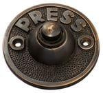 Bell Push 'Press' Antique Copper