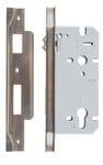 Rebated Left Hand Roller Lock Backset 60mm Antique Brass