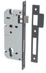 85mm Euro Lock Backset 45mm Matt Black