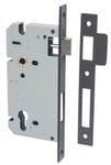 85mm Euro Lock Backset 60mm Matt Black