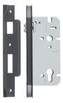 Rebated Left Hand Roller Lock Backset 60mm Matt Black