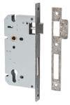 85mm Euro Lock Backset 60mm Distressed Nickel
