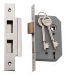 5 Lever Mortice Lock Polished Nickel 46mm