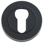 Euro Escutcheon Pair 52mm Matt Black
