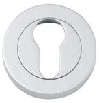 Euro Escutcheon Pair 52mm Chrome