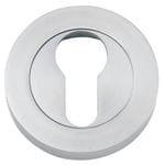 Euro Escutcheon Pair 52mm Brushed Chrome