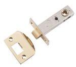 Tube Latch - Split Cam 60mm Polished Brass