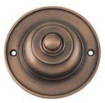 Bell Push Antique Brass 75mm