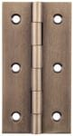 Hinge - Fixed Pin Antique Brass 76mm x 41mm